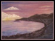 Capelinhos,                               Acrylic on 23x30cm Unframed, Canvasboard