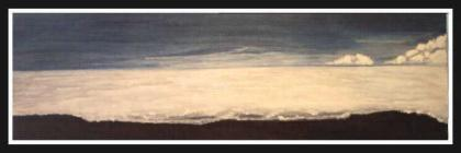 Monochrome Plus                             Blue, Acrylic on Unframed 20 x 60cm                             Stretched Canvas