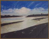 River's End, Acrylic                           on 25 x 30cm Unframed Stretched Canvas